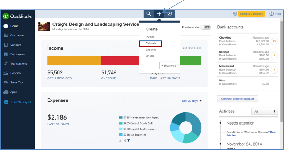 Job Costing In QuickBooks Online Your How To Guide - Create invoice in quickbooks online