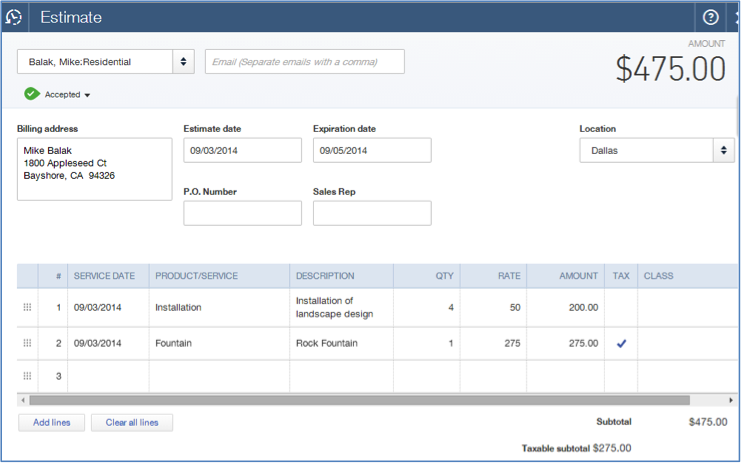 Job Costing In QuickBooks Online Your How To Guide - Estimates and invoices
